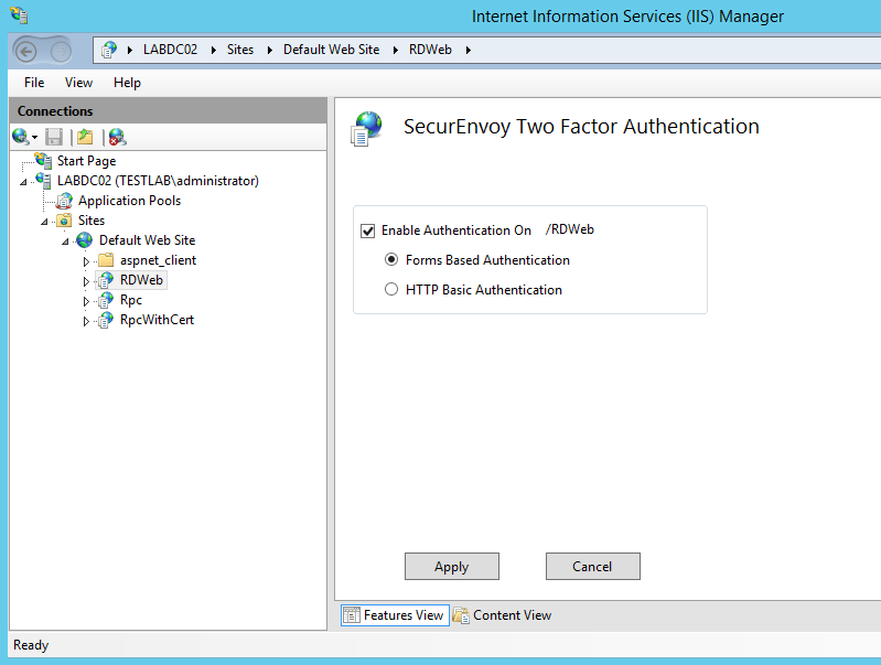 1.3 Configure the Microsoft Server Agent for RDWeb (optional) Select the virtual web site you want to protect.