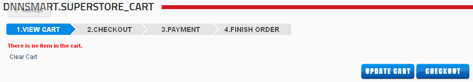 After that, you need to setup Store, Cart and My Orders these three pages to add these three modules. Please see screenshot below, you will see this after you finish this step.