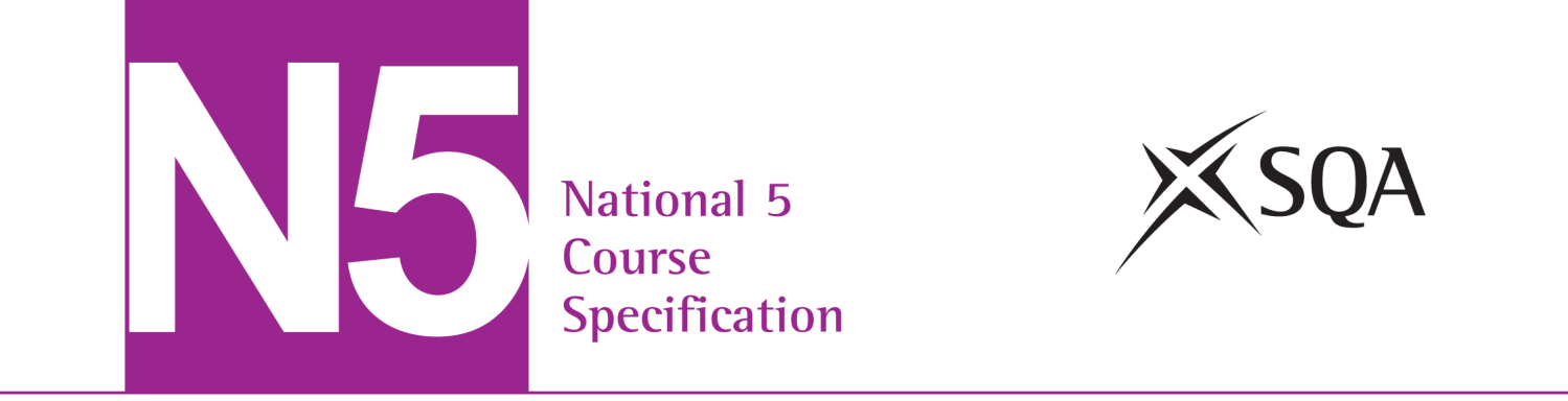 National 5 Health Sector: Skills for Work Course Specification Valid from August 2013 This edition: August 2013, version 2.