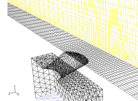 Non-Conformal Mesh Example Nonconformal mesh: mesh in which grid nodes do not match up along an interface. Example: Useful for parts-swapping for design study, etc.