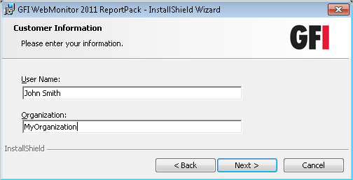 Screenshot 2 - Check for latest build availability 3. Choose whether you want the installation wizard to search for a newer build of the GFI WebMonitor ReportPack on the GFI website.