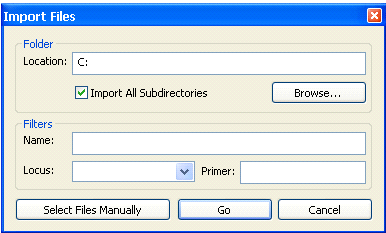 Replaces 260806 Page 32 of 50 6 Importing Sequences into Assign for Analysis 6.1 Importing sequences is performed by selecting File Import Explanation.