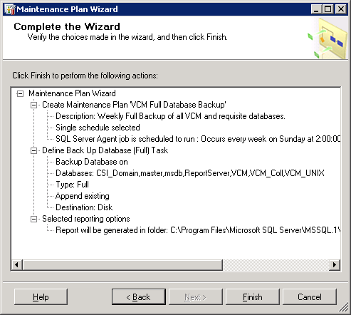 Performing Backup Procedures Configure the additional settings: Backup set will expire: Specify After 28 days.