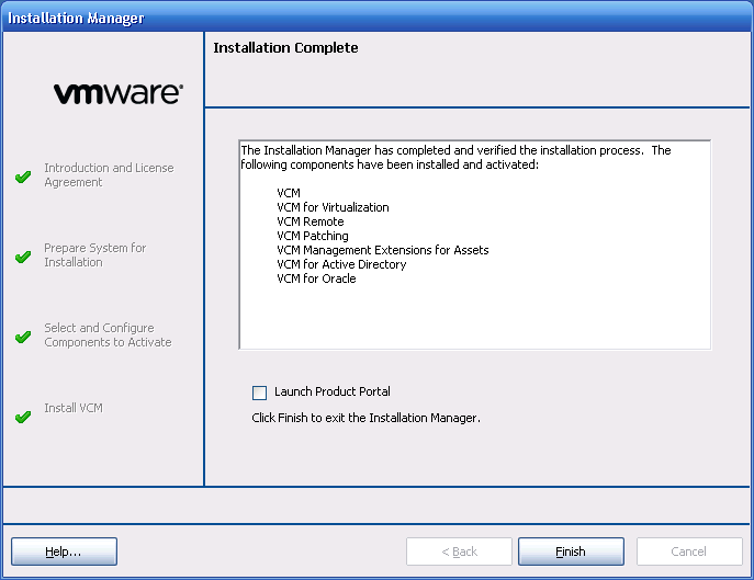 VCM Backup and Disaster Recovery Guide 4. Continue through the wizard to the page to select or generate certificates. 5.