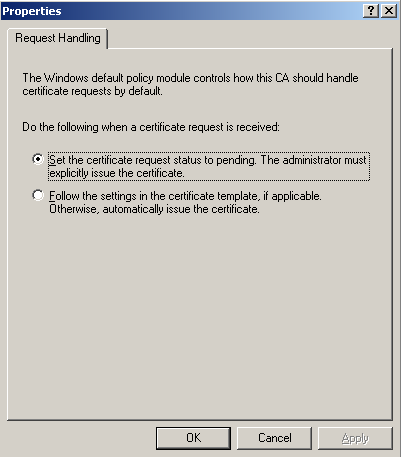 6. Stop and restart the Certificate Services service.