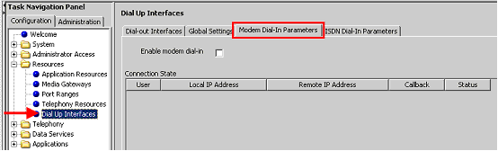 5. Finally, an administrator has the capability to disconnect a modem or ISDN call if they find that a modem or ISDN call is in progress.
