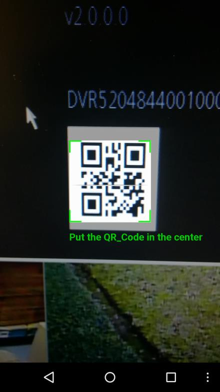 Make sure the QR code fits inside of the clear box in the center of your phone
