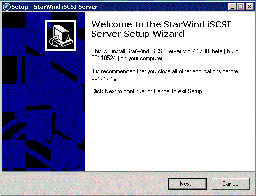 Installing Starwind Management Console on Remote Computer Launch previously uploaded setup file on the remote computer from which you