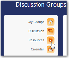 Groups The Groups tool provides an area used for Group work. The tools available to a Group are: Group Discussions, Group Resources and Group Calendar.