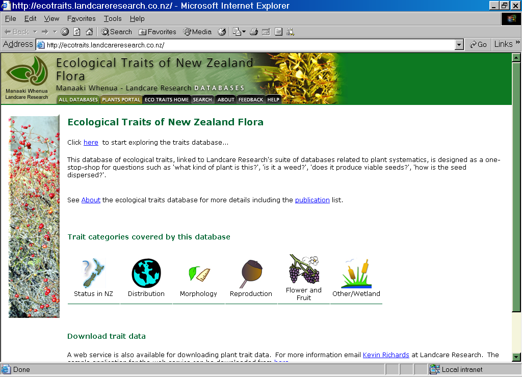 Use of NZ standard for taxonomic
