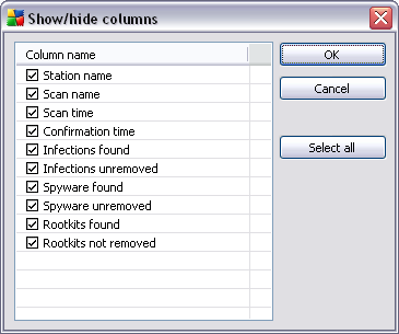 6.2.3. Records Section Within the central table in the Current view section of the screen you can view data of the group selected in the navigation tree.
