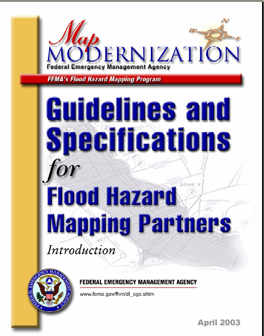 Figure 2-5. The Guidelines and Specifications for Flood Hazard Mapping Partners helped standardize flood mapping nationwide.
