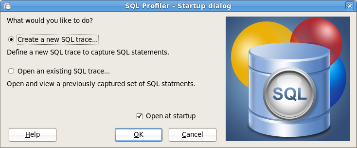 To open SQL Profiler with the PEM client, highlight the name of a server you wish to profile in the tree control, and select SQL Profiler from the Management menu.