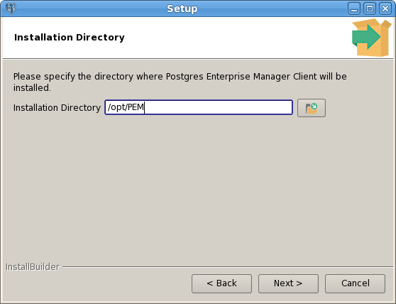 Figure 3.56 - Specify an installation directory for the client.