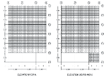 Pakistan Engineering Congress, 71st Annual Session Proceedings 81 ELEVATION VIEW 1 AND 2 ELEVATION VIEW 3 AND 4 ELEVATION VIEW A ELEVATION VIEW B AND C Figure 2: Building Elevation Note that in