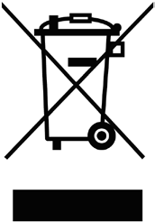 The crossed-out wheeled bin means that within the European Union the product must be taken to separate collection at the product end-oflife.