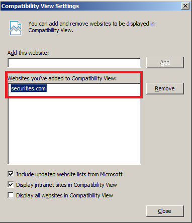 1.1 Internet Explorer We recommend you to add the WebCDM URL to the list of sites to run in compatibility mode. Please find the steps below. 1.1.1 Compatibility Settings 1.