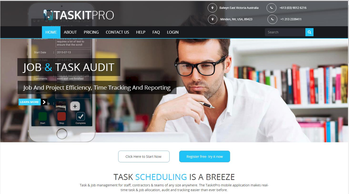 Detailed Help Register for the TaskitPro management dashboard Right click Click Here to Start Now Register by entering your name