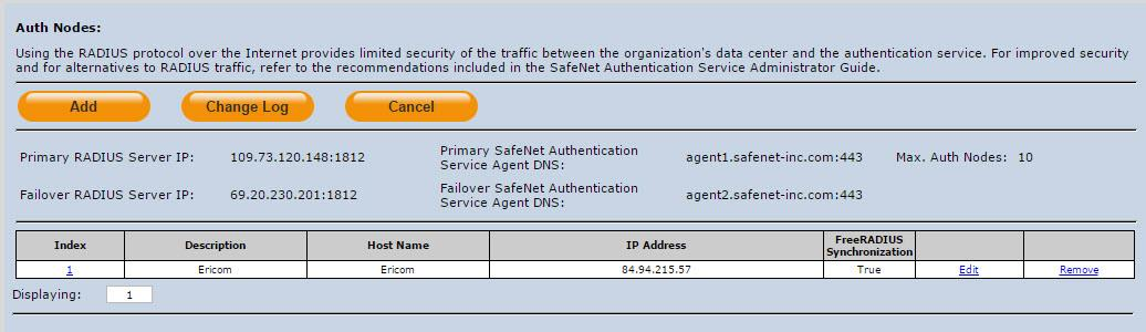 FreeRADIUS Synchronization Shared Secret Confirm Shared Secret Enter a host description. Enter the name of the host that will authenticate with SAS.
