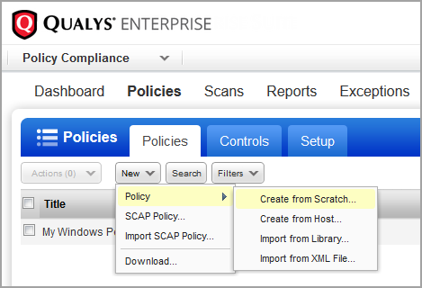 Set Up Policies Create a compliance policy based on your organization s compliance needs, and assign relevant assets to the policy.