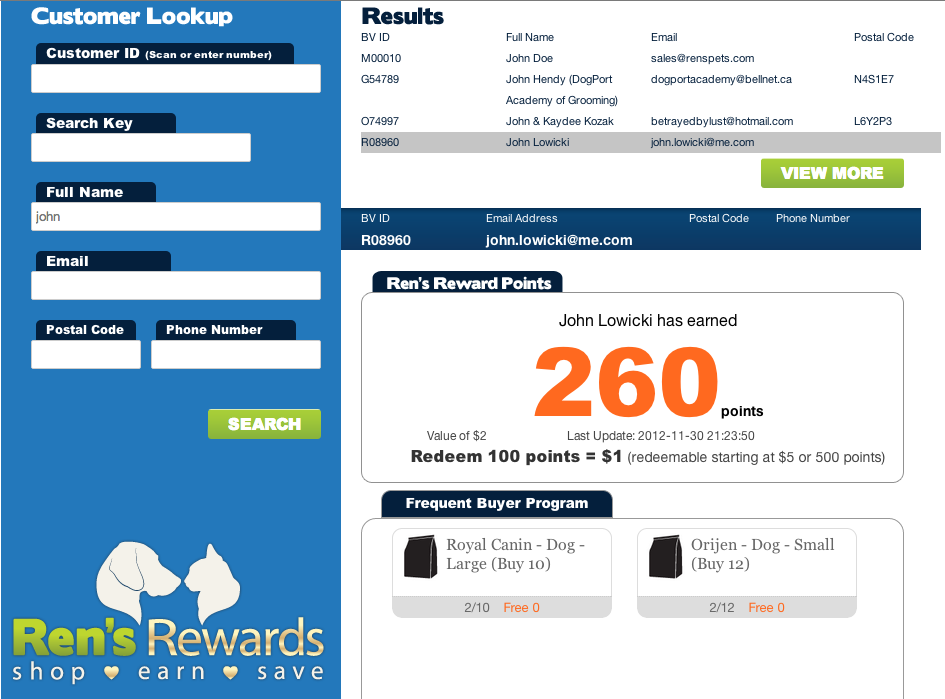 Since Ren s Pets Depot believes in a great customer experience - on every channel - in-store components of the loyalty program were also developed.