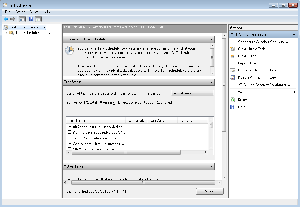 3. The Task Scheduler window will open. Select Create Basic Task 4. The Create Basic Task wizard will open.