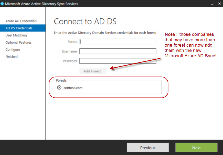 5. On the User Matching window below, most SMB organizations will just click Next.