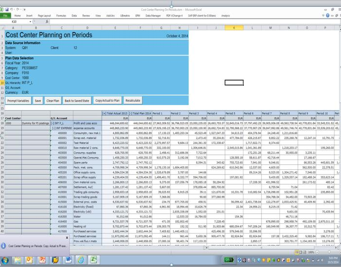 Scope Balance Sheet Planning Extract / Retract capabilities Liquidity Planning WEB Based Planning template Rule based propagation of account values Integrated Allocations and activity prices (base