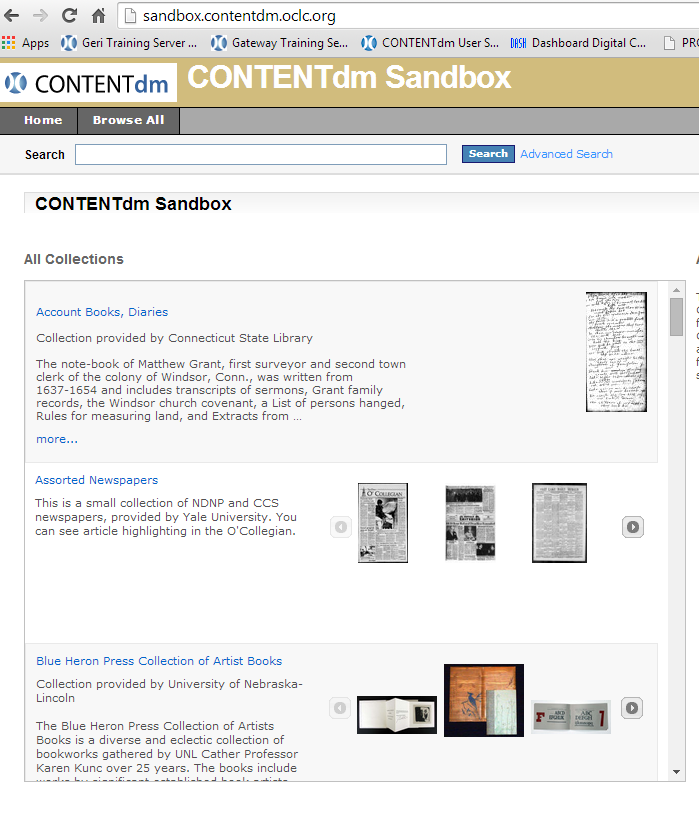 Keeping up with CONTENTdm Office Hours twice monthly In the sandbox http://sandbox.contentdm.oclc.