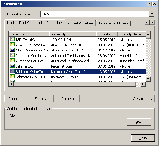 4. Importing your Certificate 4.