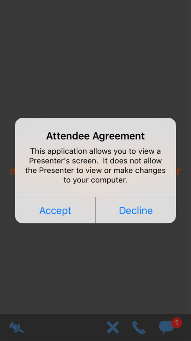 Join a Presentation from an ios Device In order to join a presentation, your attendee must download the Bomgar presentation app from the Apple App Store.