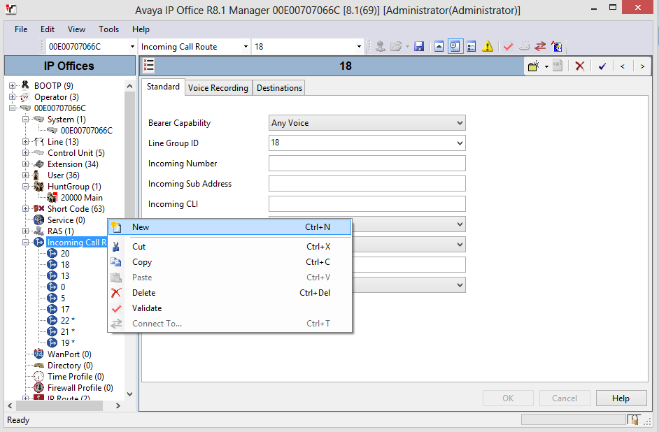 5.7 Configure Incoming Call Routes From the left pane,