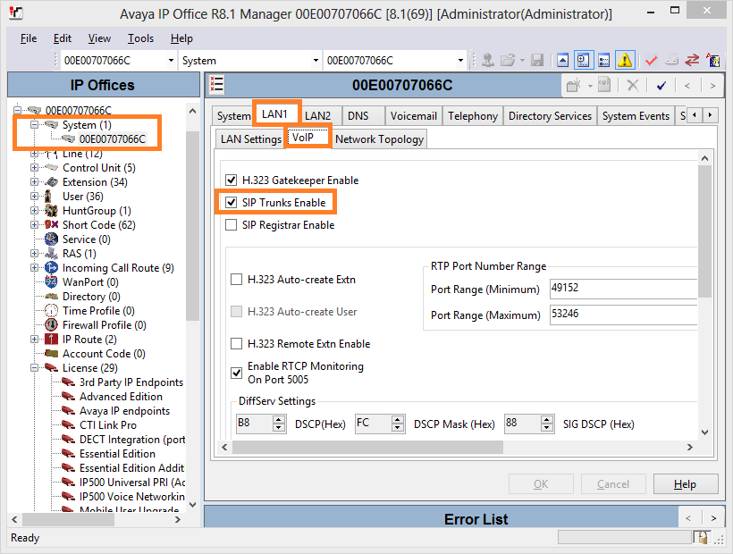 5.4 Configure System Parameters From the left pane, expand System then highlight LAN1 in the right pane.