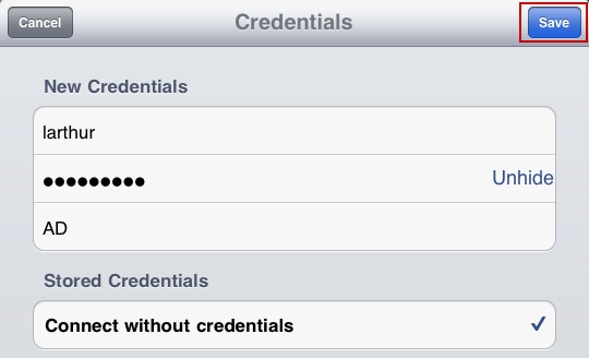 Step 14: Tap Credentials.