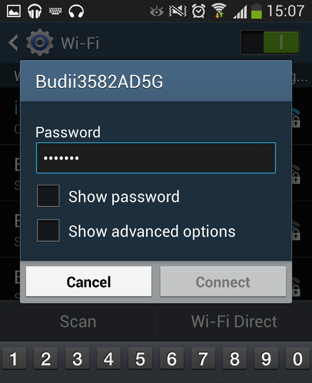 of your wireless network from the list. 4.