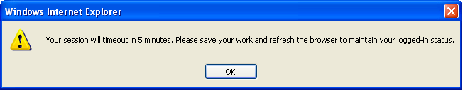 If you have not saved your work before the system times out all changes made after the last save will be lost. While logged in, you may see some of the left-hand navigation repeated.
