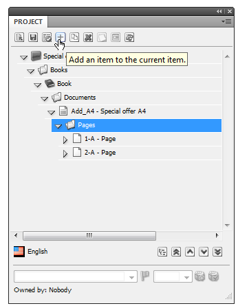 User Manual 2. Click Add. 3. The Add new page item dialog box is displayed. Enter the name of the new page item and select one of the page branches from the Branch drop-down list.