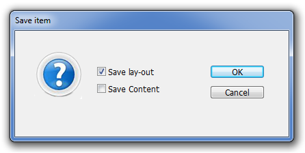 4.7.2 Saving Pages To save a page and all the page items on the page: 1. Select Page item you want to save in the tree: 2. Click Save. 3.
