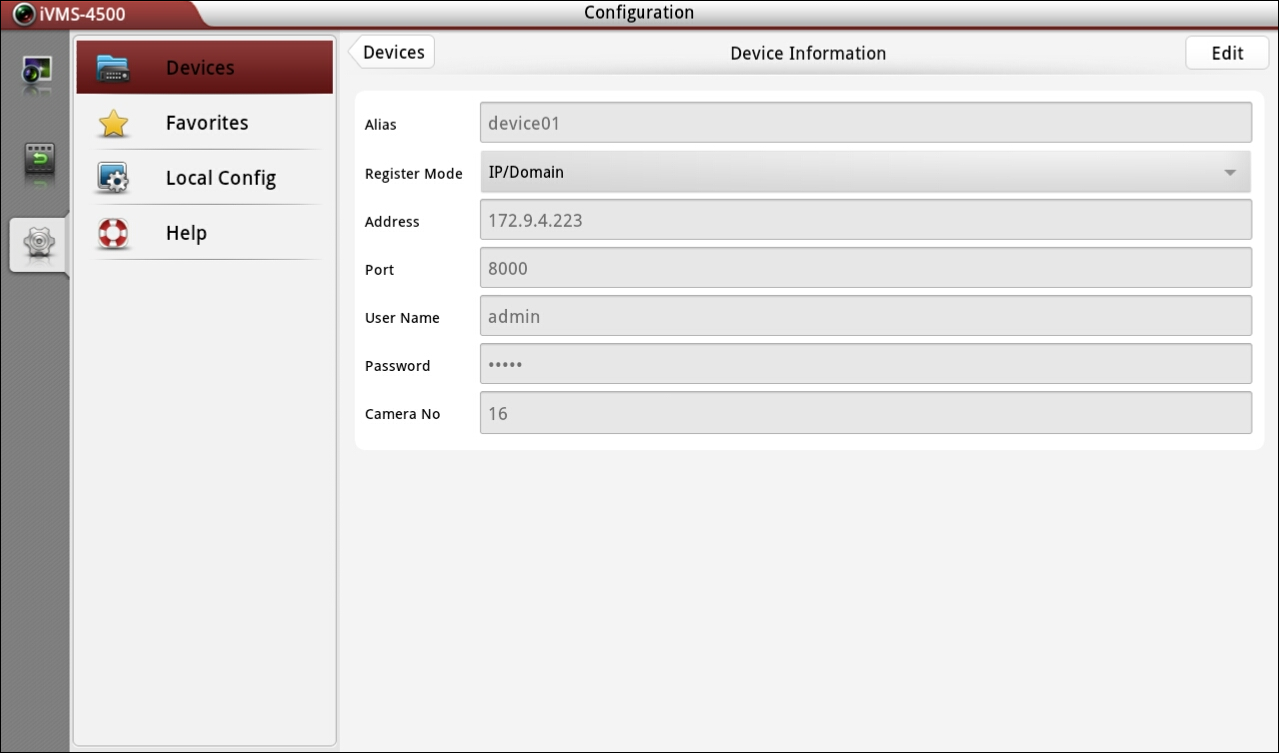 new device will be displayed in the Device Management interface. 4.2 Modifying a Device Steps: 1.