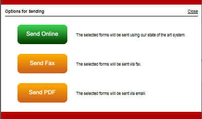 Note: You do have the option to send a fax or create a PDF to email.