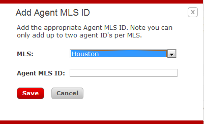 Lesson 10: eedge IDX 11. Click the Edit button at the bottom of the Profile Info page. 12. Click Add Agent MLS ID. 13. Select your MLS from the Drop Down list and Enter your Agent MLS ID. Click Save.