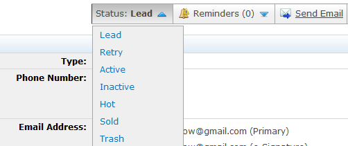 Lesson 4: myleads 7. Be sure to change the status after you contact the lead. If you do not contact a lead within twelve hours, eedge will automatically send them an email.