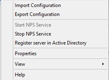 Installing the NPS and RADIUS Roles on Windows Server 2012 How to Register the Server in Active Directory Use the following steps to register the server in active directory. Step Action 1.