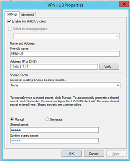 Installing the NPS and RADIUS Roles on Windows Server 2012 How to Add a Cisco Router as a Client on the NPS Server, continued Step Action 2. Click New.