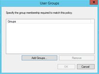 Installing the NPS and RADIUS Roles on Windows Server 2012 How to Define a Policy on the NPS Server, continued Step Action 4. Figure 41. Select Condition dialog box 5. Click the Add button.