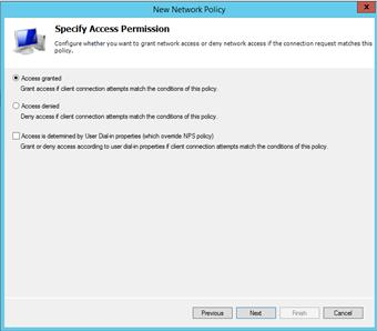 Result: The Specify Access Permission dialog box appears. Figure 43. Select Group dialog box 10.