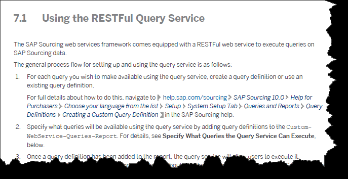Additional Information on the Query Web Service Web Services Guide