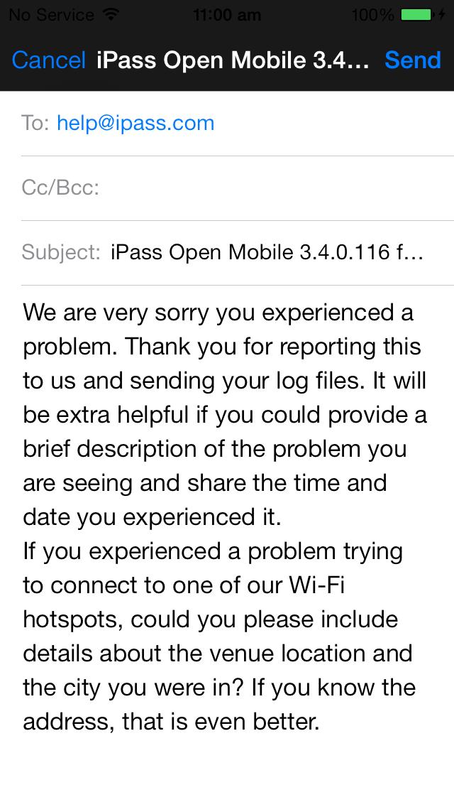 1 Appendix D: Collecting Open Mobile Logs for ios 3.
