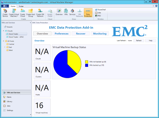 EMC Data Protection Add-in for SCVMM Note The Data Protection Add-in is unable to distinguish between multiple virtual machines with the same name on the same host.