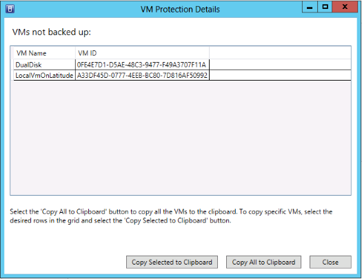 EMC Data Protection Add-in for SCVMM Figure 18 Virtual Machine Backup Status tooltip for Tenant Administrator and Application Administrator user roles When you click a backup status category in the